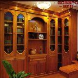 Bookcase шкафа книги Малайзии античный деревянный (GSP18-013)