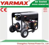 Generatore elettrico diesel di monofase 7kVA 7kw Genset del blocco per grafici aperto di Yarmax