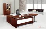 Design popular Wood Venner L em forma de diretório Office Table