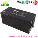 Batterie profonde 12V250ah de gel d'énergie solaire de cycle pour le circuit secours