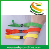 Wristband tejido poliester del acontecimiento con diverso código