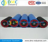 Rodillos Azules del Transportador de las Ruedas Locas del Transportador del HDPE del Sistema de Transportador del Diámetro de 108m M