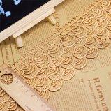 Cordón de nylon de la suposición del recorte de la tela del bordado del poliester del cordón de la ropa de la fábrica de la venta al por mayor los 8cm del bordado común de la anchura para el accesorio de la ropa y materias textiles y cortina caseras
