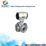 Válvula de esfera pneumática de três maneiras