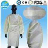 Ce y vestido blanco disponible certificado FDA del aislamiento, vestidos del visitante