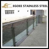 Pasamanos de cristal al aire libre/barandilla del acero inoxidable de los Ss 304 Ss 316