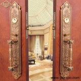 Puerta de entrada doble de madera de lujo de la hoja (GSP1-001)