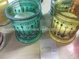 Candela della citronella in vaso di vetro, riempito candela, candela