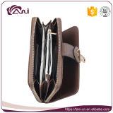 Бумажник застежки -молнии 2 цветов многофункциональный, бумажник женщин PU кожаный с конструкцией способа