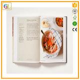 Personnaliser l'impression bon marché de livre de cuisine de livre À couverture dure