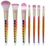 新しいデザイン虹の多彩なハンドルはカスタムロゴのユニコーンのブラシにブラシをかける