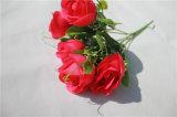 5 Spitze-künstliche Rosen-Blumen für Dekoration