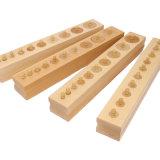 Игрушка Timay Set-в-4-Knobbed-Cylinder-Block-Professional-деревянные Монтессори игрушки образования ребенка