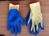 Qualität Polycotton Zwischenlage-Latex-überzogene Sicherheits-Handhandschuhe