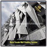 Painel de alumínio perfurado especial do projeto moderno para o sistema da fachada