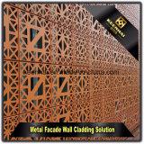 Couleur aluminium découpées au laser personnalisée de panneaux de revêtement de mur extérieur