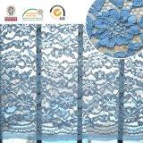 2017 filati 174 del cotone/Spandex della copertura del tessuto del merletto del fiore di Dyeable di alta qualità
