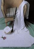 Toalla 100% de Terry usada hotel del telar jacquar del algodón del blanco de la estrella