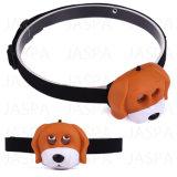 Батарея AAA - приведенный в действие Headlamp винила собаки животный (21-2F1705)