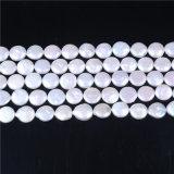 """fabricación de la joyería del hilo flojo 15 de los granos de la perla de 15m m de la dimensión de una variable de agua dulce natural de la moneda """""""