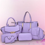 Les femmes ont placé le sac à main de mode de sac à main de cartable de sac d'épaule 6PCS