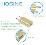 5V 1A EU Plug Home Charger Ouro / Branco / Preto Cor Mini carregador USB para celular