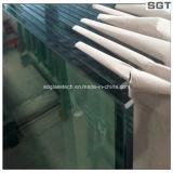 vidro de vidro claramente endurecido personalizado 10mm do edifício dos trilhos Polished