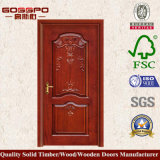Madera sólida que talla la puerta antigua del diseño (GSP2-016)