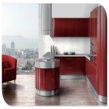 シンプルな設計の金属の食器棚