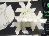 Wit Waterjet van de Vorm van de Bloem Thassos van de Mengeling van Carrara Wit Marmeren Mozaïek