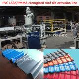 Hoja española del material para techos de PVC+PMMA/ASA Corragted que hace la máquina