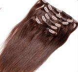 Indio brasileño/ Clip en la extensión de cabello humano.