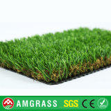 grama artificial da forma de 30mm U e da forma da espinha para o jardim