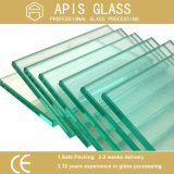 3-12mm Clear Float Heat Strength / Toughened / Safety / Furniture / Tempered Glass avec Ce En12150 SGCC Ansiz 297