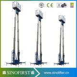 10m aan Werkende Platform van de Lift van de Legering van het Aluminium van 12m het Lichtgewicht Towable