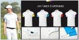 Kleid-Sommer-schnell trockenes Breathable Golf-T-Shirt der hochwertigen kurzen Hülsen-Polo-Shirt-Männer der Männer