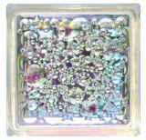 transparentes 190X190X80mm/färbte glatter/Sand gesprengter Glasblock/Blick (JINBO)