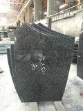 販売のための墓石の墓碑を刻む黒い花こう岩の安く平らで重要なマーカー