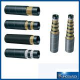 Boyau en caoutchouc hydraulique tressé hydraulique fil d'acier de boyau/(DIN 1SC)