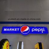 Коробка специального Signboard рекламируя средств алюминия СИД Пепси конструкции ультра тонкого светлая