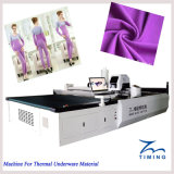Precio más bajo de cuero tela cortada ventas calientes tela no tejida máquina troqueladora