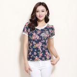 L'été nouveau style de la flore de la femme d'impression Design T-shirt personnalisé