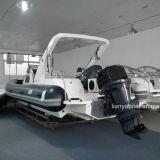 Vente gonflable de bateau de coque de fibre de verre de yacht de côte de Liya 27 '