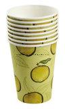 A parete semplice con la tazza di carta a gettare stampata abitudine per le bevande calde