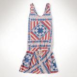 Hot Sale Fashion enfant vêtements des filles fille robe en mousseline robe monobloc