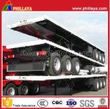 De Tri-Essieu de plate-forme de conteneur remorque plate semi pour 20FT 40FT