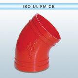 Instalación de tuberías Grooved del hierro dúctil de FM/UL