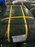 Poly bâche de protection vert-foncé de couverture de bâche de protection