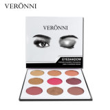 Gama de colores duradera impermeable del sombreador de ojos de los colores de Veronni 9 de la buena calidad