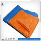 Orange blaues HDPE überzogenes wasserdichtes Tarps für Verkauf